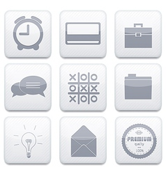White business app icon set eps10 vector