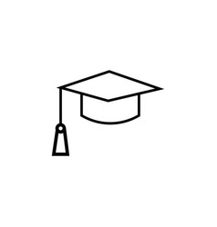 End of education mortarboard icon vector