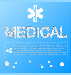 Light medicine poster vector