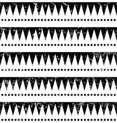 Seamless aztec tribal pattern - retro grunge styl vector image