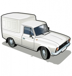 Delivery cargo van vector