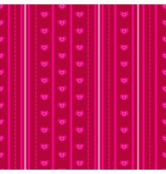 Pattern with pink hearts vector