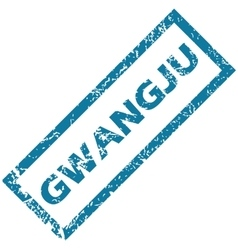 Gwangju rubber stamp vector