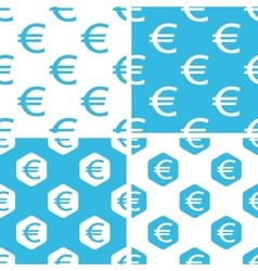 Euro patterns set vector