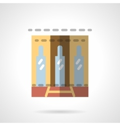 Storefronts flat icon business center vector