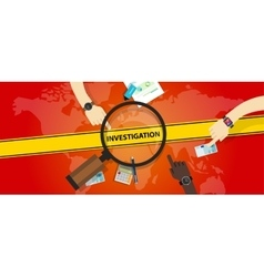 Investigation police yellow line business internet vector