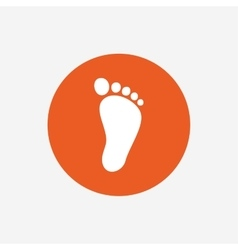 Child footprint sign icon barefoot vector