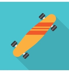 Skateboard flat icon vector