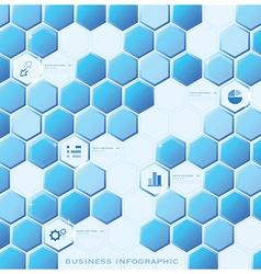 Modern hexagon business infographic background vector