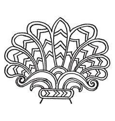 Assyrian ornament is a lotus-palamette motive vector