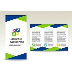 brochure folder triangles design vector image vector image