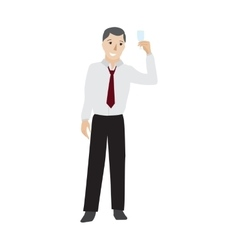 Businessman raising champagne glass vector