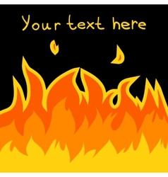 Cartoon fire card vector image