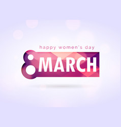 Creative happy womans day greeting design vector