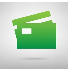 Credit card icon with shadow vector