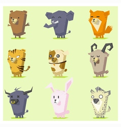 Cute animals icon set 4 vector