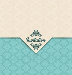 Decorative invitation design vector image