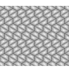 Design seamless monochrome hexagon pattern vector