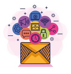 email social media communication letter message vector image