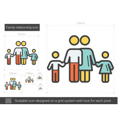 family relationship line icon vector image