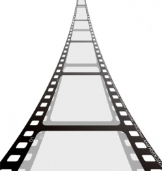 film strip reel vector image vector image