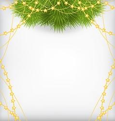 fir branch beads2 vector image vector image