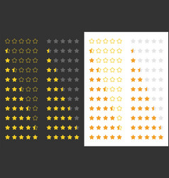five rating golden stars vector image