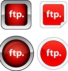 Ftp button set vector