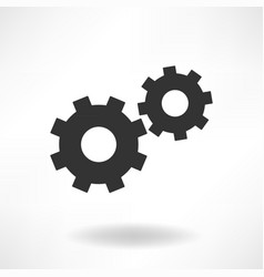 Gearwheels simple icon vector