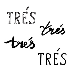 Hand drawn phrases very in french vector