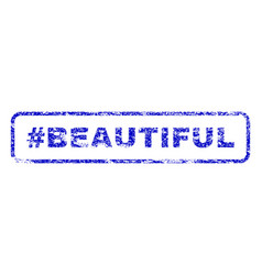 hashtag beautiful rubber stamp vector image vector image
