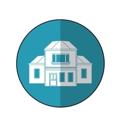House traditional detailed modernn blue circle vector