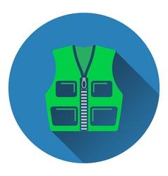 Icon of hunter vest vector