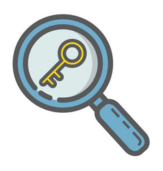 keyword research filled outline icon seo vector image vector image