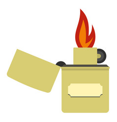 lighter icon isolated vector image