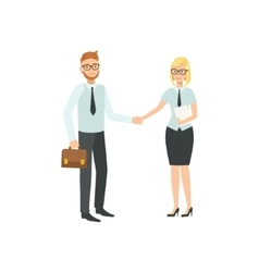 Managers Agreeing And Shaking Hands Teamwork vector image vector image