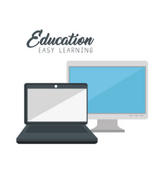 Online education concept icon vector