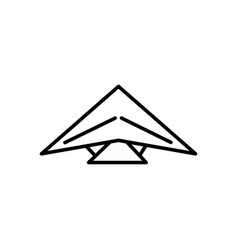 Paragliding icon vector