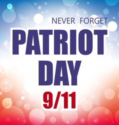 Patriot day usa banner vector