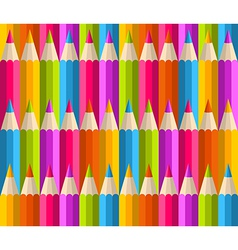 Rainbow pencils pattern vector image vector image