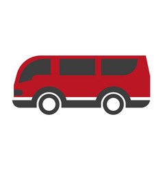 red and black van vector image vector image