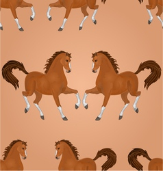 Seamless texture brown horse running vector