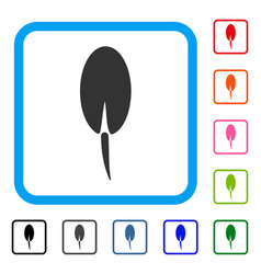 Seed root framed icon vector