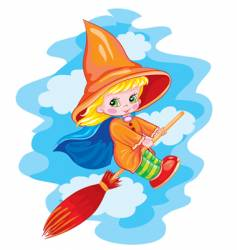 small witch vector image vector image