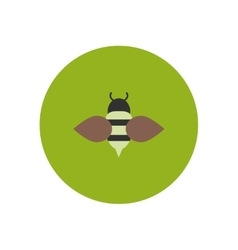 stylish icon in color circle Honey bee vector image