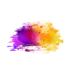 watercolor imitation brushed background vector image
