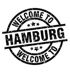 Welcome to hamburg black stamp vector