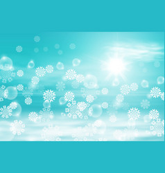 winter sunny day background vector image vector image