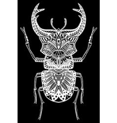 Zentangle Bug vector image