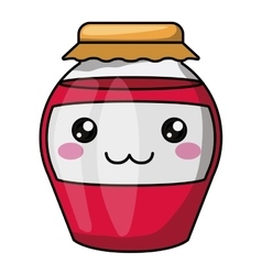 Jam with kawaii face design vector